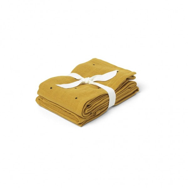 Liewood Mulltücher-Set Hannah, classic dot , mustard