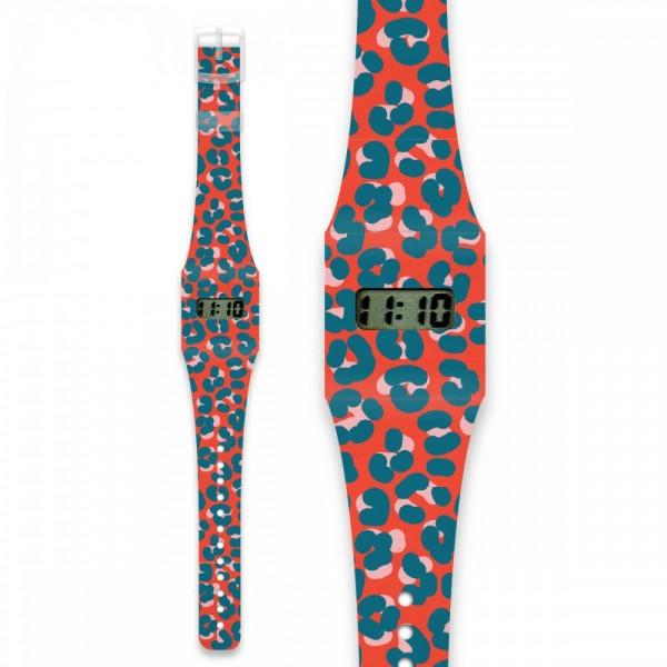 Leopard Rouge Pappwatch ADULT Armbanduhr aus Tyvek