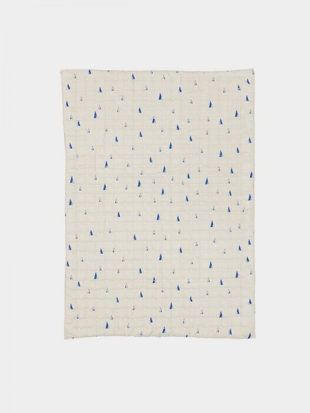 Ferm Living Cone Quilted Blanket - Blau
