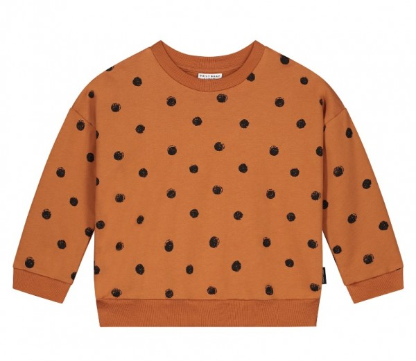 Daily Brat Oversized Sweater, Polka Colombia Brown