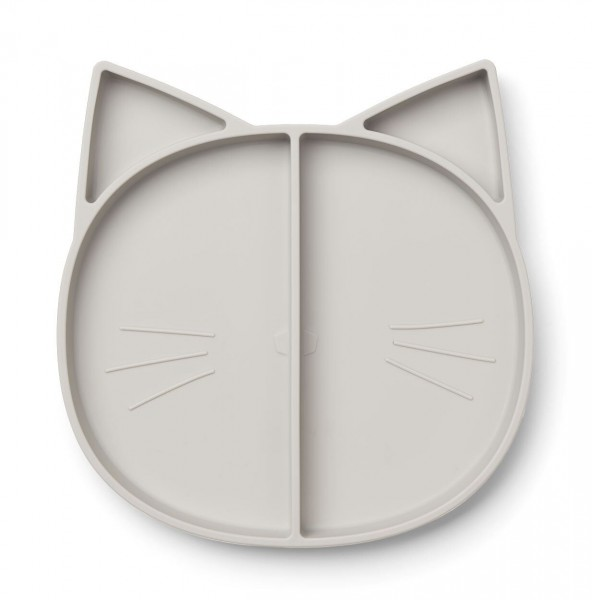 "Liewood Kinderteller ""Maddox Cat Grey"""