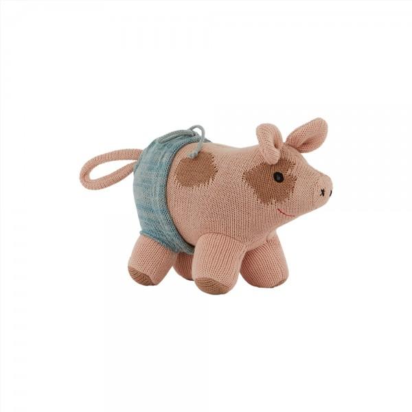 OYOY Living Design, Stofftier Hugo, Mini Pig
