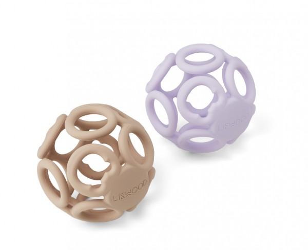 Liewood Greifball Set Jasmin, Light Lavender/Rose mix