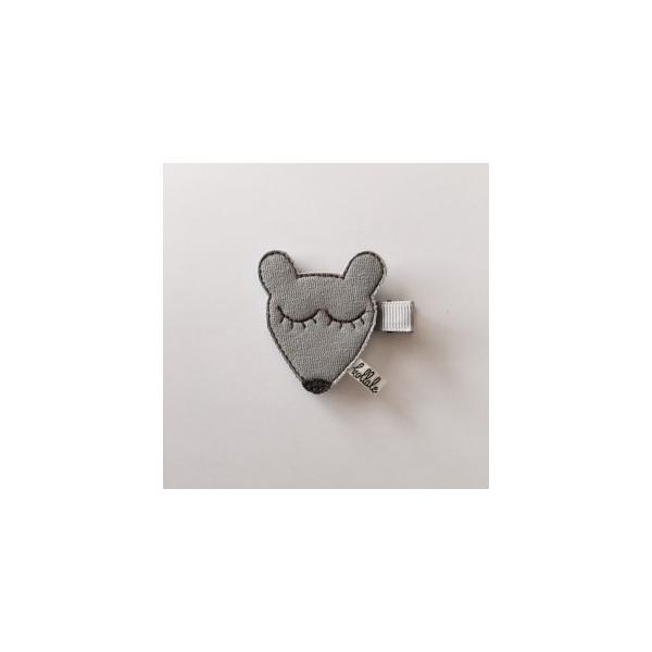 Kollale Maus Haarspange dunkel grau