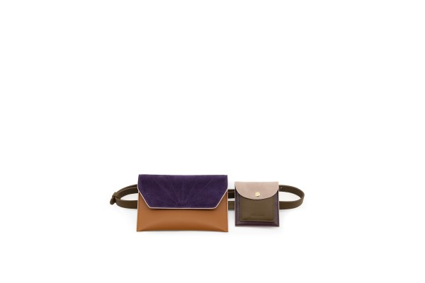 The Sticky Sis Club Gürteltasche - olive green + cider brown + grape purple