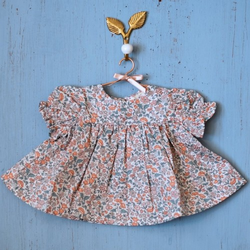 Elselil Puppen Kleid Liberty (dunkel)