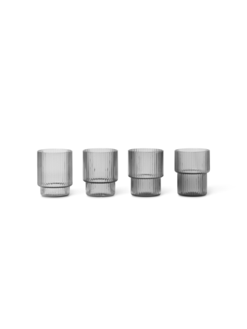 Ferm Living Gläser Set, Smoked Grey