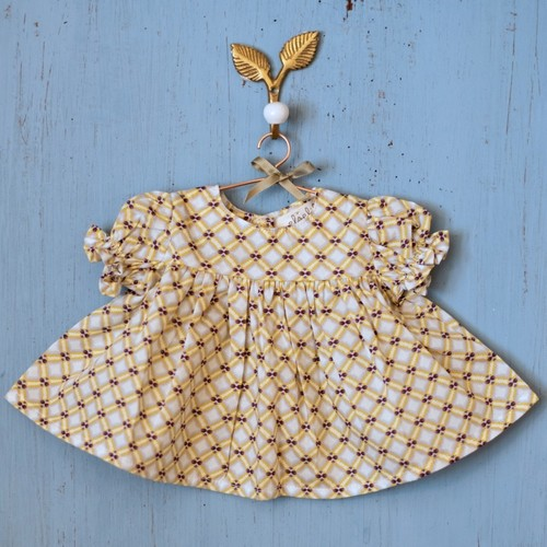 Elselil Puppen Kleid (gelb)