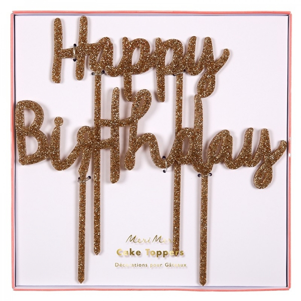 Meri Meri Happy Birthday Cake Topper