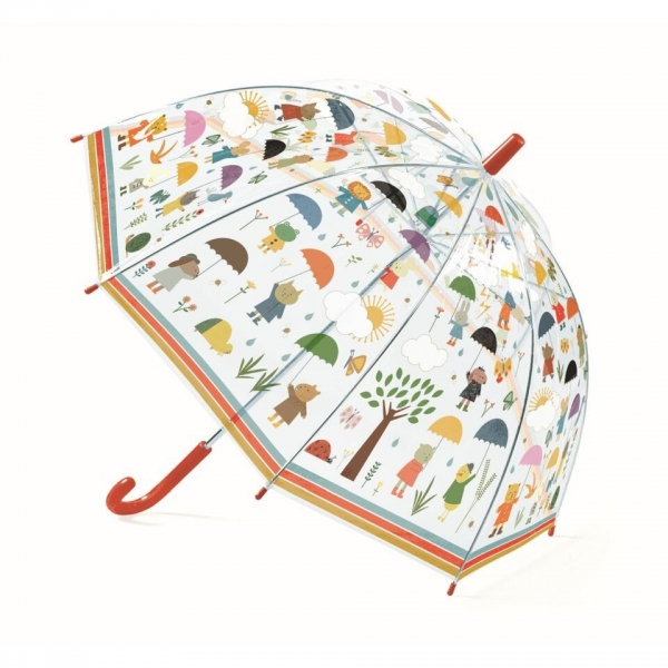 "Djeco Kinder Regenschirm ""Under the Rain"", rot"