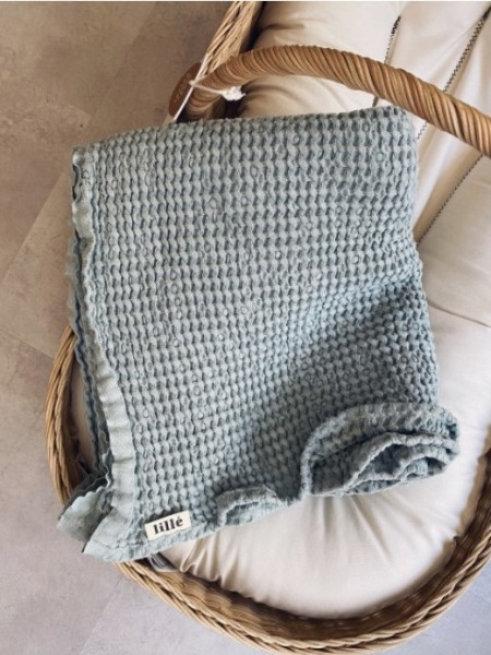 Lille Decke, Leinen&Baumwolle, Blue Mist