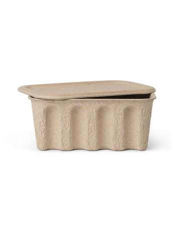 Ferm Living Aufbewahrungsbox 2-er Set, Paper Pulp Box, small