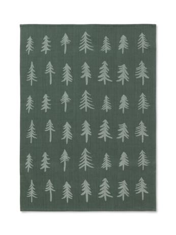 Ferm LIVING Christmas Tea Towel, Dark Green,