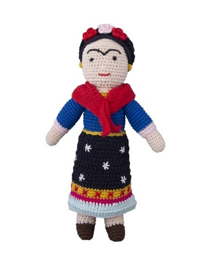 Global Affairs Frida Kahlo Häkelfigur