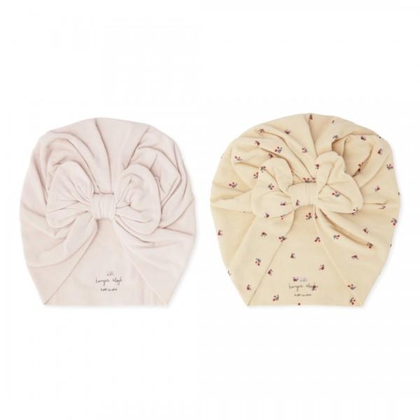 konges slojd Mütze, 2er Set, Basic Bambi Bonnet, Bloom/Lavendar Mist