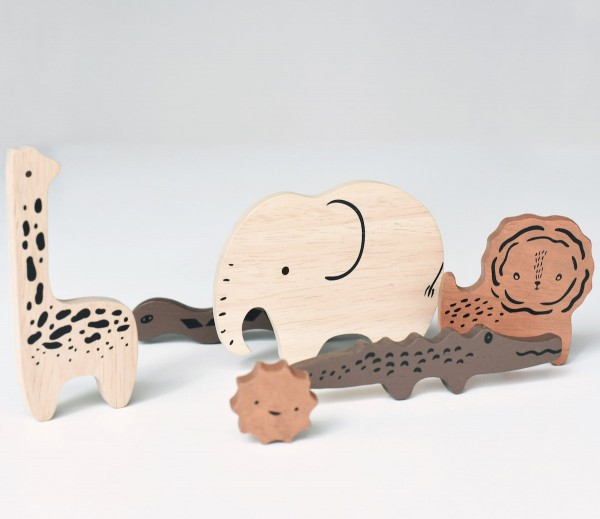 Wee Gallery Steckpuzzle, Safari Animals