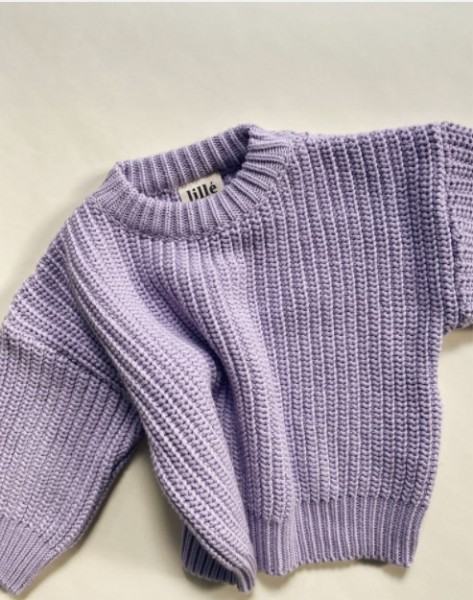 """Lille Sweater """"Chunky"""", Lavender"""
