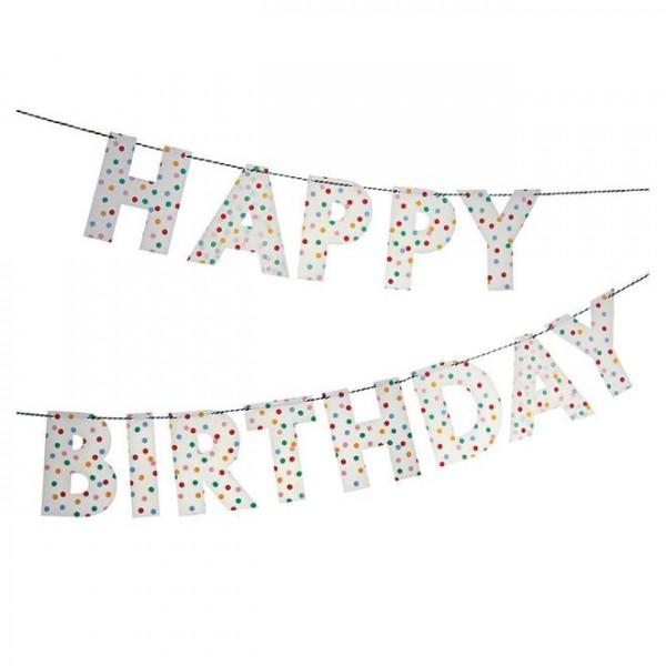 Meri Meri Partygirlande Happy Birthday Spotty
