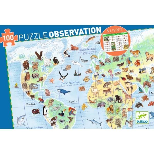 Djeco Puzzle Tiere der Erde