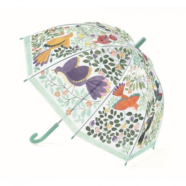 """Djeco Kinder Regenschirm """"Blumen&Vögel"""""""