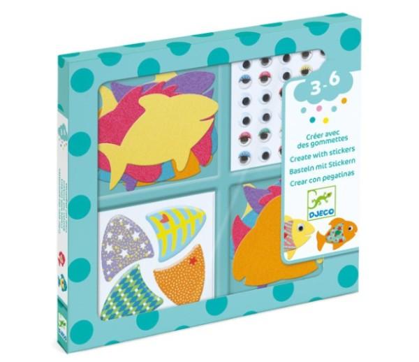 """Djeco Kinder Regenschirm """"Fische"""", inkl Farbenwechsel"""