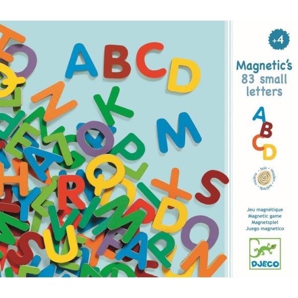 Magnetbuchstaben aus Holz, klein