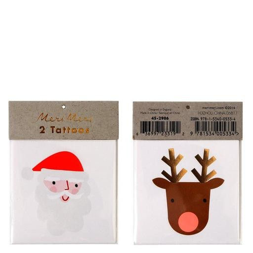 Meri Meri Tattoos - Santa&Reindeer