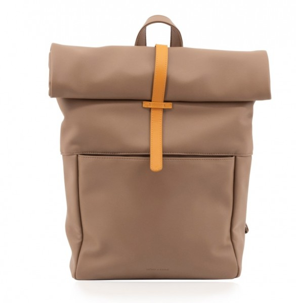 Monk&Anna Herb Backpack Cacao, Vegan Leather