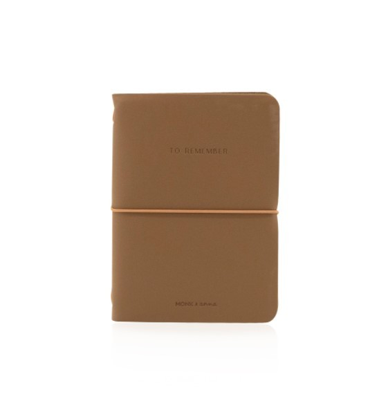 Monk&Anna Vegan Leather Notebook M, Cacao