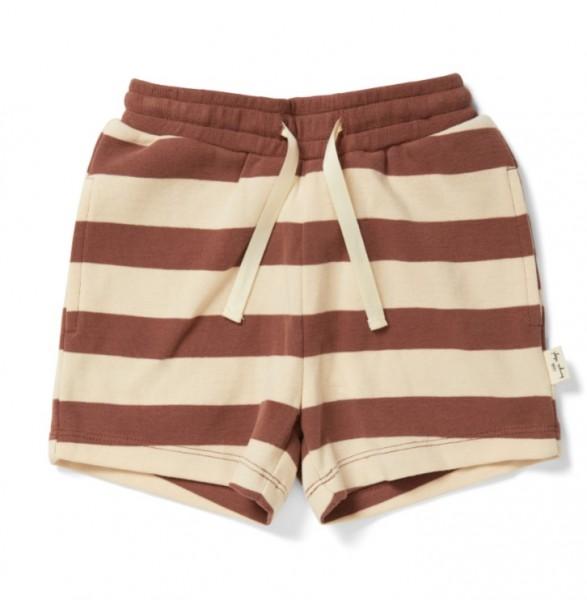 "konges slojd Shorts ""Lou"", Striped Fig Brown"