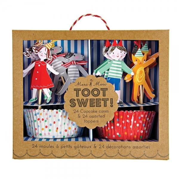 Meri Meri Cupcake Set, Toot Sweet