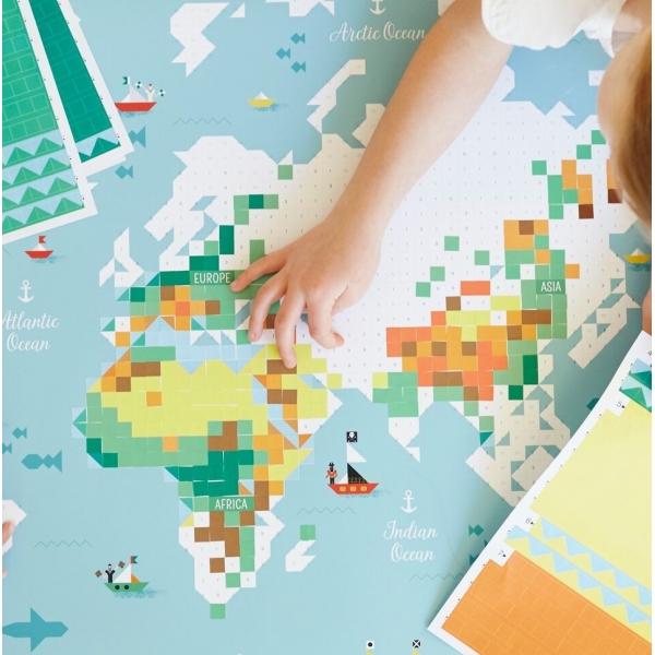 Poppik Aufkleberplakat, Weltkarte