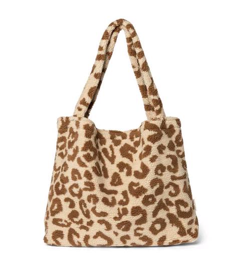 Studio Noos - Teddy leopard ecru mom-bag - LIMITED EDITION