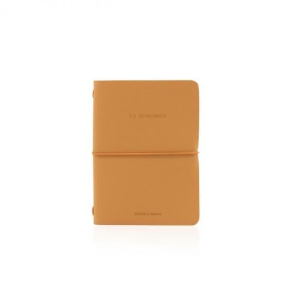 Monk&Anna Vegan Leather Notebook M, Cashew