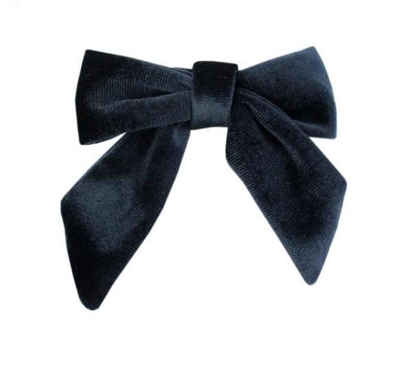 Little Millie - Alexa Velvet Bow Clip - blue