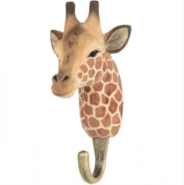 Handgeschnitzter Haken Giraffe