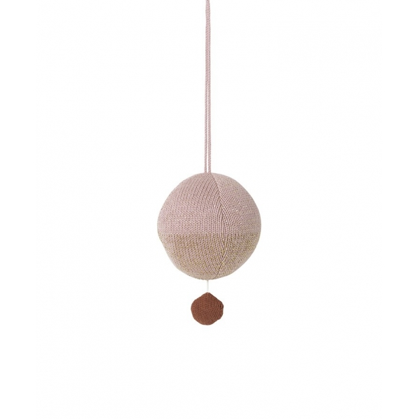 Ferm LIVING Ball Knitted Mobile - Rosa