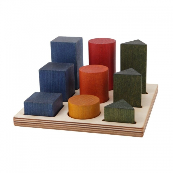 WoodenStory Formen Legespiel, bunt