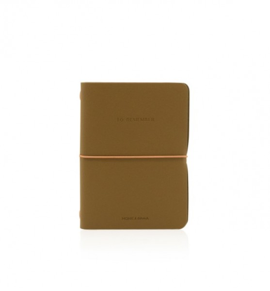 Monk&Anna Vegan Leather Notebook M, Olive