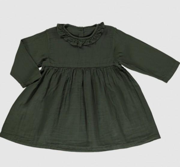 Poudre Organic Kleid Campanule, Forest Green