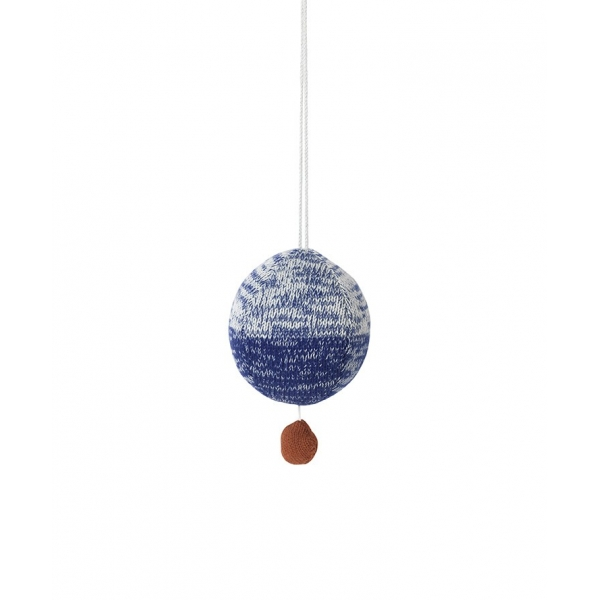 Ferm LIVING Ball Knitted Mobile - Blue