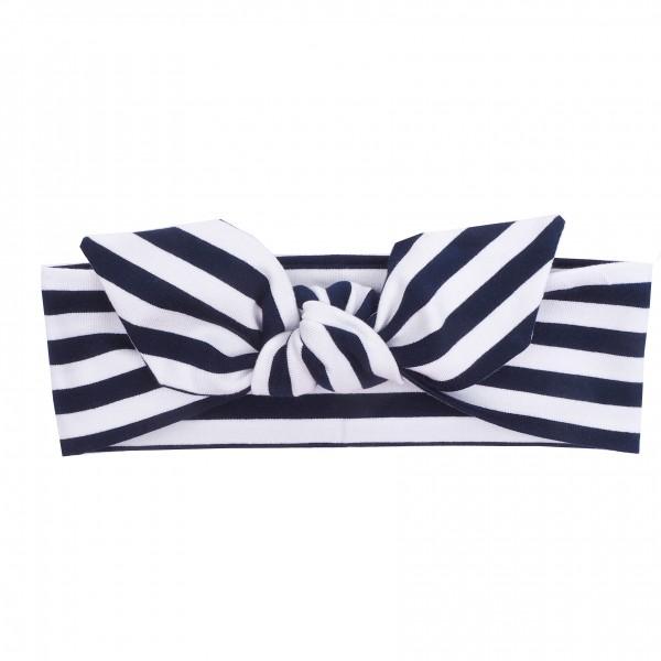 UL&Ka Haarband, navy/weiß, gestreift