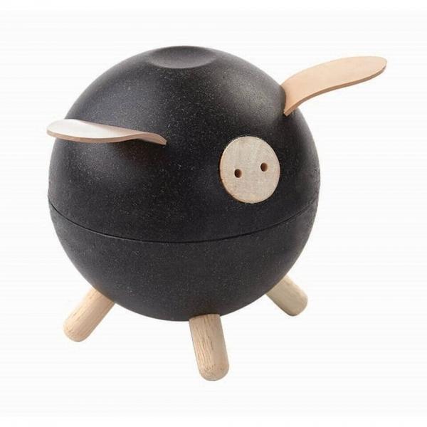Plan Toys Sparschwein schwarz