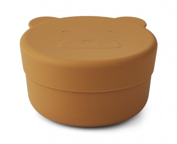 Liewood Snack Box Carrie, Mr Bear mustard