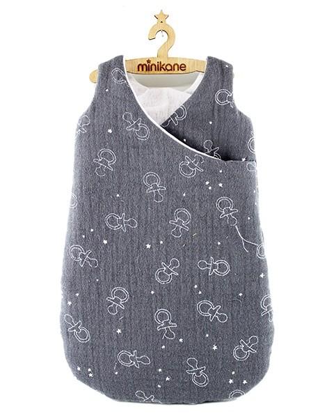 Minikane, Schlafsack Grau