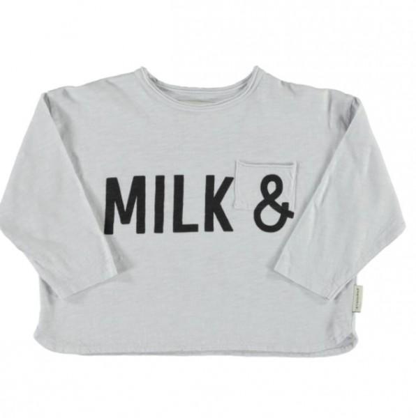 "Piupiuchick Longsleeve, ""Milk"", light grey"