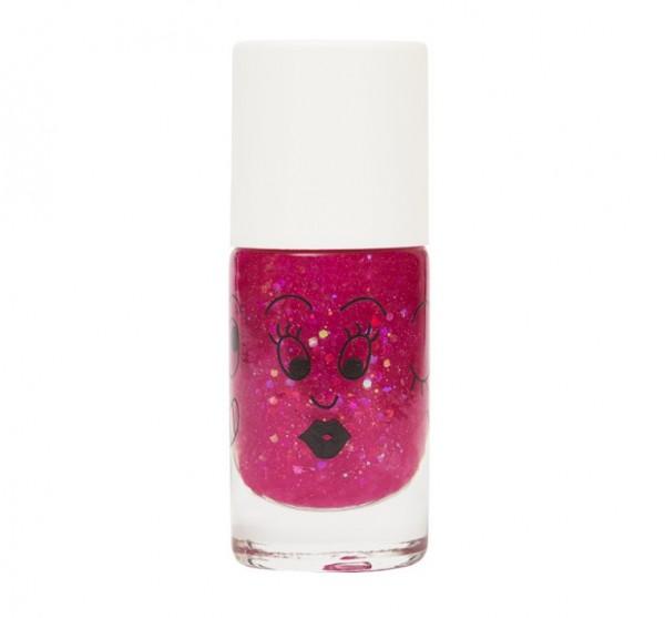 Nailmatic Kinder-Nagellack, Sheepy, clear raspberry glitter
