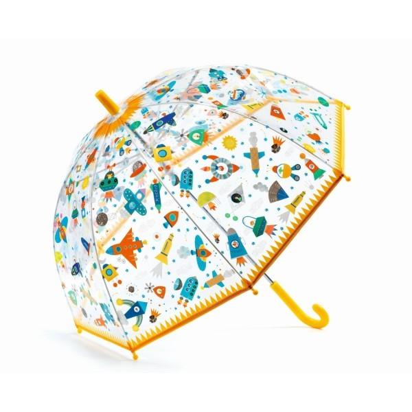 """Djeco Kinder Regenschirm """"Weltall"""", gelb"""
