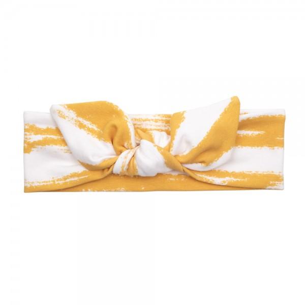 UL&Ka Haarband, gelb/weiß, gestreift
