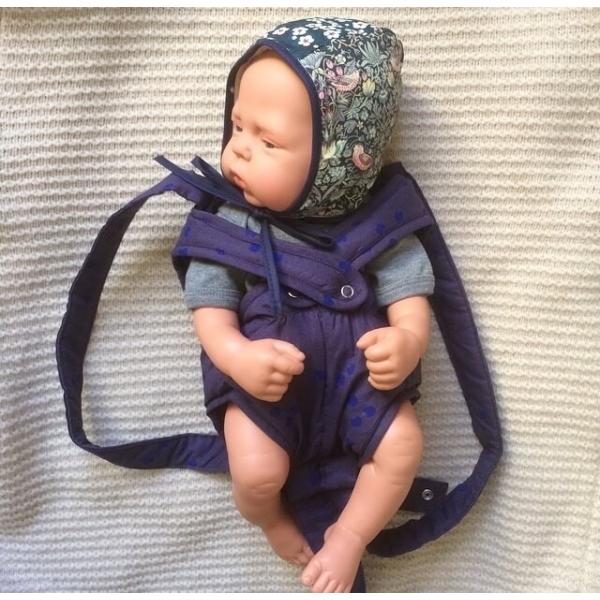 Elselil Puppe-Babytrage blau